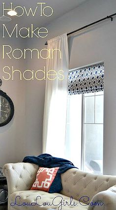 "We moved into our new house a year and a half ago, and I made the shades about a month after we moved in. I can't believe it has taken me this long to post, but here goes.  I love these roman shades because they are an easy way to add color and privacy to … Continue reading ""How To Make Roman Shades"""