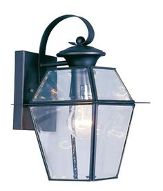Livex Lighting 218104 Westover 1 Light Outdoor Black Finish Solid Brass Wall Lantern with Clear Beveled Glass *** Learn more by visiting the image link. Brass Outdoor Lighting, Black Outdoor Wall Lights, Livex Lighting, Outdoor Light Fixtures, Outdoor Wall Lantern, Outdoor Wall Sconce, Outdoor Wall Lighting, Wall Sconce Lighting, Outdoor Walls