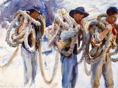 °John Singer Sargent - Workmen at Carrara - 1911 Art Institute of Chicago (United States - Chicago) (LauChansArt)