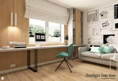 Biuro styl Skandynawski - zdjęcie od design me too - Biuro - Styl Skandynawski - design me too