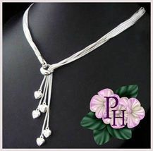 Beautiful Sterling Silver 5 Heart Necklace   $34.99  Coupon is ava #bonanzateamsellit