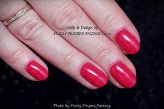 Gelish Raspberry nails by www.fukyfingersfactory.com