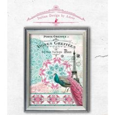 Peacock Digital Scrapbook Paper Pink/Turquoise... ($3.36) via Polyvore featuring home, home decor, office accessories and pink office accessories