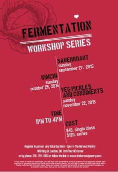 fermentation, cooking class instruction, preserving Sauerkraut, Cooking Classes, Farmers Market, Workshop, Atelier, Work Shop Garage