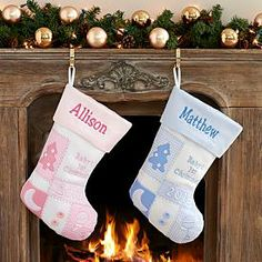 Personalized Baby's First Christmas Stork Stocking... ADORABLE ...