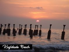 sunset at calicut beach. Ocean Sunset, Morning Pictures, Tourist Spots, South India, Shop Interiors, Kerala, The Good Place, Relax, City