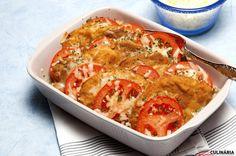 Receita de Lombo de porco panado com tomate e queijo. Descubra como cozinhar Lombo de porco panado com tomate e queijo de maneira prática e deliciosa com a Teleculinária!