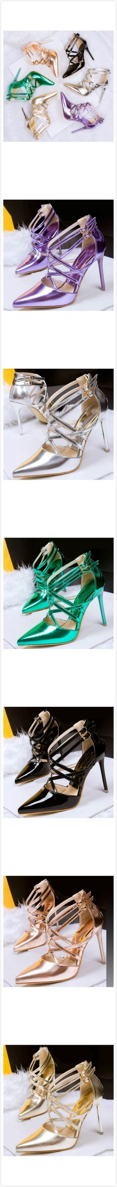 Pointed Toe High Heels Stiletto Cross Sandals,6 colors for your option. Check more info. from www.azbro.com