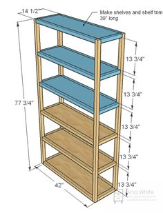 Ana White | Build a Parson's Style Bookshelf | Free and Easy DIY Project and Furniture Plans