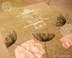 Nos faire-part mariage kraft Cette année la tendance mariage est aux ambiances champêtres, aux matières naturelles comme le lin, le bois et le kraft, aux motifs végétaux et aux papiers recyclés. http://pastillesetpetitspois.fr/