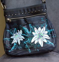Hand-painted Carla Danelli Argentinian Leather Handbag by SoulAffiliates on Etsy