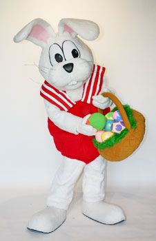 Peter Cottontail Custom Mascot Costume Character. Mascot Rental available for promotional use at schools, libraries, and bookstores.