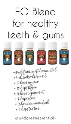 Using Essential Oils in your Dental Routine Commercial Toothpaste contains numerous carcinogens and synthetic chemicals. What we put on our skin is absorbed into our bloodstream, cells and organs… and what goes in our mouth is (of cour… Gum Health, Oral Health, Dental Health, Health Care, Dental Care, Dental Hygienist, Dental Implants, Teeth Whitening Remedies, Natural Teeth Whitening