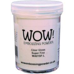 WOW! Embossing Powder Super Fine 15ml-Clear Gloss Wow Embossing Powder http://www.amazon.com/dp/B00AFXKPV6/ref=cm_sw_r_pi_dp_hfEcwb01V9T6A