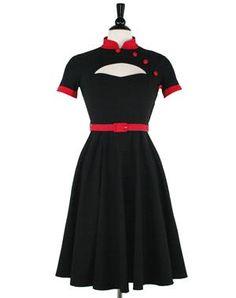 Poesy Dress Black & Red
