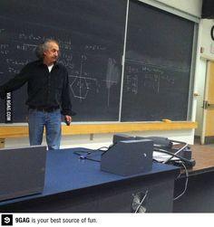 He´s teaching me physics