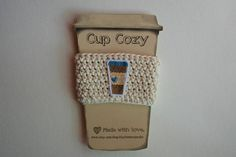 Crochet Cup Cozy, Etsy Shop, Unique Jewelry, Handmade Gifts, Happy, Vintage, Kid Craft Gifts, Crochet Mug Cozy, Craft Gifts