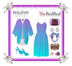 Chic Holiday Style with The RealReal: Contest Entry by artist4god-rose-santuci-sofranko on Polyvore featuring polyvore, fashion, style, Brian Atwood, KOTUR, Naeem Khan, Chanel, Ray Griffiths and Stephen Dweck