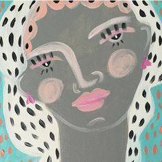 """Original Painting, """"Zilia"""" by Leslie Weaver, available at Baba Souk"""