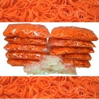 Orange Rainbow Loom Rubber Bands 6000 pcs