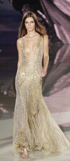 Versace. The cut and flow of this dress is magnificent.