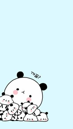 Kawaii Panda Wallpaper Iphone, Cute Panda Wallpaper, Funny Phone Wallpaper, Bear Wallpaper, Cute Disney Wallpaper, Kawaii Wallpaper, We Bare Bears Wallpapers, Panda Wallpapers, Cute Cartoon Wallpapers