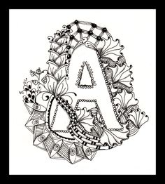 zentangle letters | ... project a zentangle alphabet i ve finished the first four letters