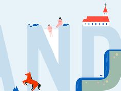Working on Travel illustration. Iceland is one of my favorite travel destination!