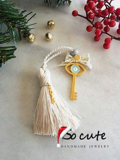 Diy Jewellery, Jewelry, Wedding Favors For Guests, Lucky Charm, Amelie, Xmas, Christmas, Tassel Necklace, Tassels
