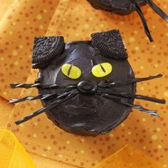 Black Cat Cupcakes Recipe from Taste of Home