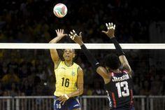 Fê Garay e Adenízia resolvem, Brasil vence os EUA e vai à semi no vôlei #globoesporte