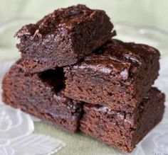 Vegan Brownies. I've made this a few times for my vegan friend, and each time I forget it's vegan.