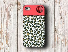 Cheetah iPhone case  Coral and cheetah print  by ToGildTheLily, $15.99