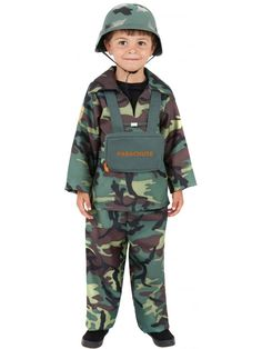 Our Child Army Boy Kids Fancy Dress Costume includes top, trousers and backpack. Buy now from Simply Fancy Dress. Toy Soldier Costume, Costume Garçon, Army Costume, Military Costumes, Costume Shop, Fancy Dress Costumes Kids, Costumes For Sale, Cute Costumes, Childrens Fancy Dress