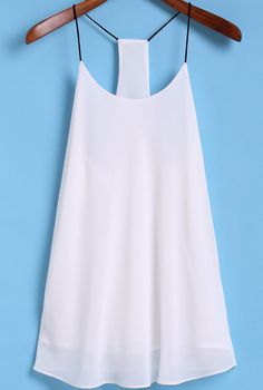 To find out about the Spaghetti Strap White Cami Top at SHEIN, part of our latest Tank Tops & Camis ready to shop online today! White Cami Tops, Diy Clothes, Clothes For Women, The Bikini, Passion For Fashion, Cute Outfits, Fashion Outfits, Style, Ladies Tops