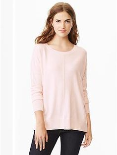 Drop-shoulder sweater (need light pink, heather gray)