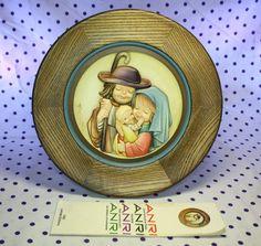 Anri Ferrandiz Hand Crafted Plate Wooden THE SHEPHERD FAMIILY Christmas 1982