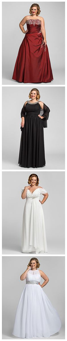 Don't worry about the size of your dress - you can be beautiful at any size or shape! Choose your favorite plus size prom dress now!