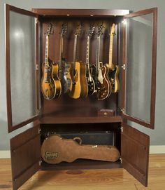 9a638ce54a I think we could re-purpose a storage unit without too much work to make  you a guitar display. Peter Key · guitar humidifier cabinet