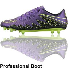reputable site 7f8a6 9a66c Nike Hypervenom Phinish Boots (FG - Hyper Grape Volt). Football Shoes ...