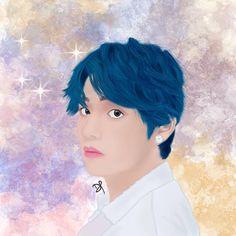 #BTS #V #fanart #btsfanart #digital #painting #kpop #kimtaehyung Fanart, Bts, Kpop, Digital, Anime, Painting, Instagram, Painting Art, Fan Art
