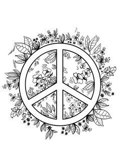 No War Peace Symbol - Buzzle.com Printable Templates