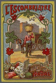 [Felicitaciones de Navidad de oficios.. EL CARBONERO Grabado — 1900-1970