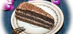 Tort makowy z czekoladowym kremem mascarpone - main