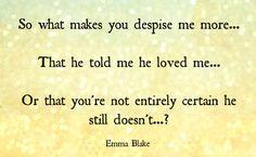 Broken Hearted Girl... Emma Blake