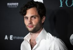 """Penn Badgley, star of Netflix's """"You,"""" talks to Teen Vogue about gender-based violence and his work with migrant women and girls. Thick Curly Hair, Boys With Curly Hair, Curly Hair Men, Curly Hair Care, Hair A, Curly Hair Styles, Mens Curly Hair Products, Long Curly, Wavy Hair"""