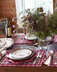 english country tablescape | Country tablescape with Juliska ceramics and silverware. | table