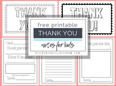 Printable Thank You Cards For Kids - The Kitchen Table Classroom inside Free Printable Thank You Card Template - Sample Business Template Printable Thank You Notes, Printable Playing Cards, Thank You Note Template, Thank You Card Template, Notes Template, Free Business Card Templates, Templates Printable Free, Printable Cards, Kid Printables