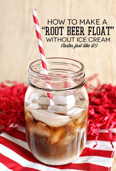 How to make a root beer float using only 2 ingredients (and one isn't ice cream!--French Vanilla Coffee Creamer & Root Beer Soda over ice. Delicious Desserts, Dessert Recipes, Yummy Food, Fun Recipes, Drink Recipes, Summer Drinks, Fun Drinks, Beverages, Summer Fun