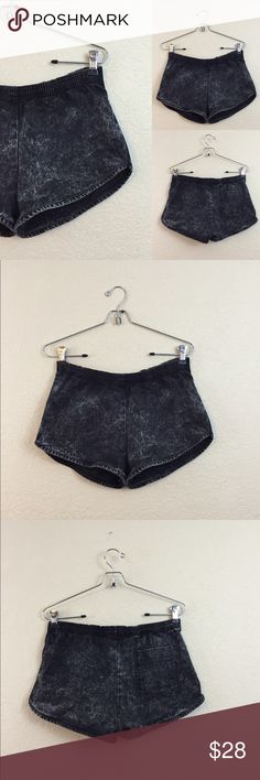 American apparel acid wash shorts American apparel acid wash runner shorts stretch waistband size medium no flaws American Apparel Shorts Jean Shorts
